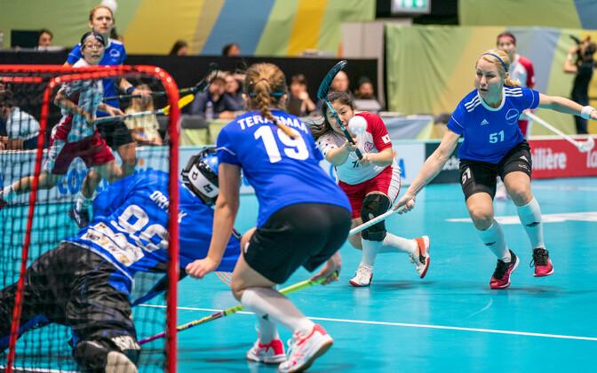 Женская сборная Эстонии в своем последнем матче на ЧМ-2019 против Японии.