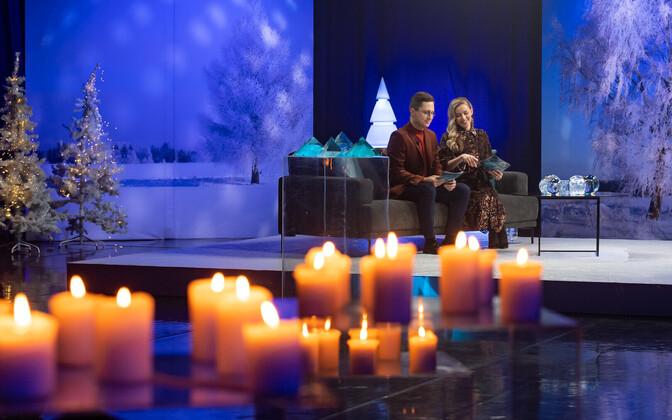 Jõulutunnel hosts Kristjan and Anna Pihl.