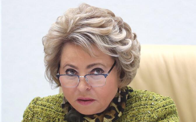 Venemaa Föderatsiooninõukogu spiiker Valentina Matvijenko.