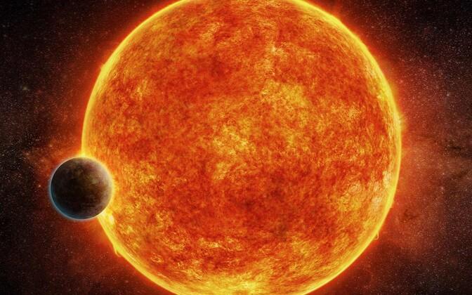 Eksoplaneet kunstniku nägemuses.
