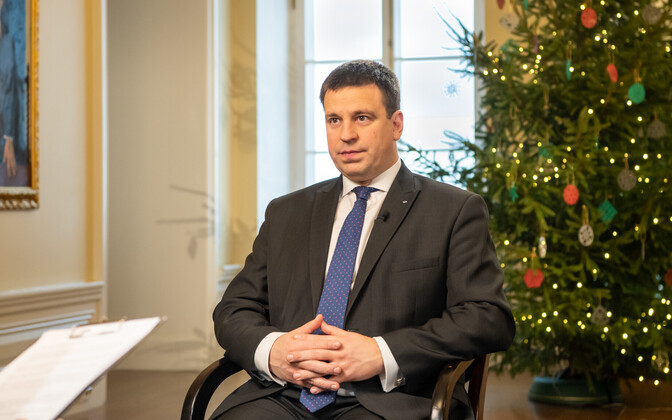 Jüri Ratas did a year-end interview with Russian-language ETV+.