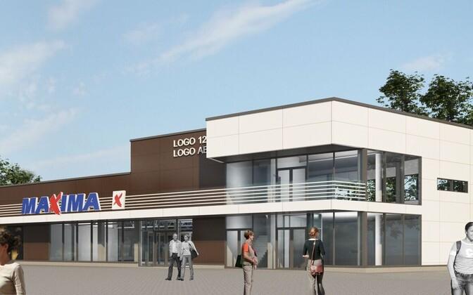 Artist's rendition of the new mall at Kopli 69B.