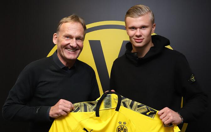 Hans-Joachim Watzke ja Erling Braut Haaland