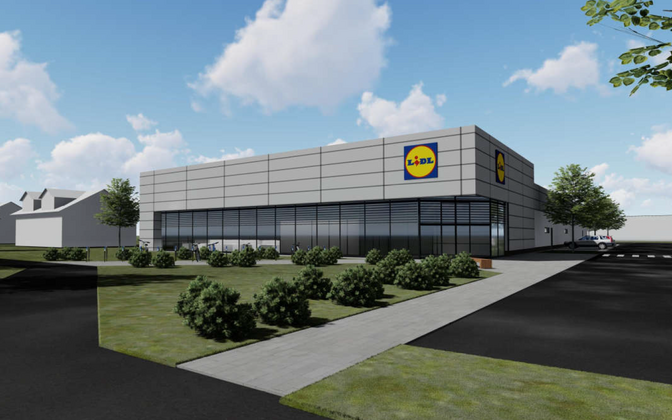 Artist's impression of a new Lidl store in Pärnu. The disputed outlet is planned for Tartu.
