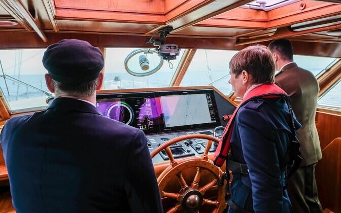 President Kersti Kaljulaid aboard the S/Y Admiral Bellingshausen. June 15, 2019.