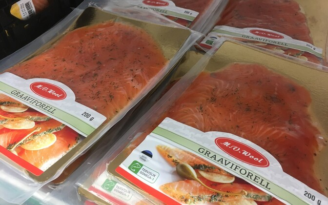 M.V.Wool trout gravlax that was recalled in October. Photo is illustrative.