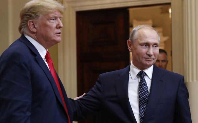 Donald Trump ja Vladimir Putin.