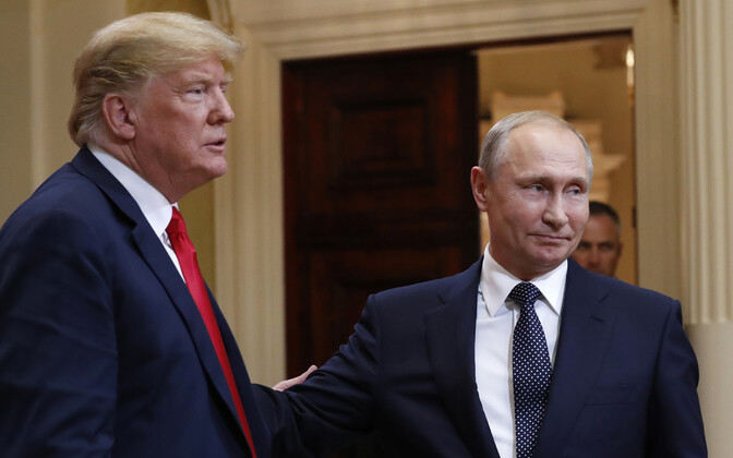 U.S. President Donald Trump and Russian President Vladimir Putin in Helsinki. July 16, 2018.