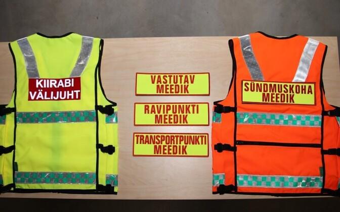 Роль медиков скорой помощи в случае крупных происшествий помогут определить специальные жилеты.