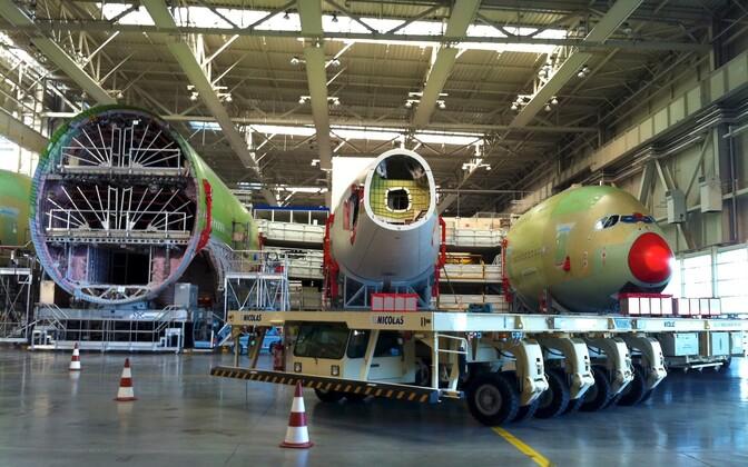 Строительство Airbus A380.