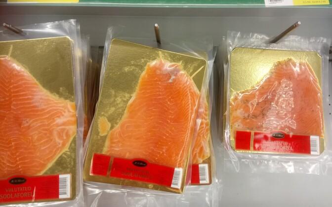 Продукцию из форели и лосося на заводе в Вихтерпалу не изготавливают.