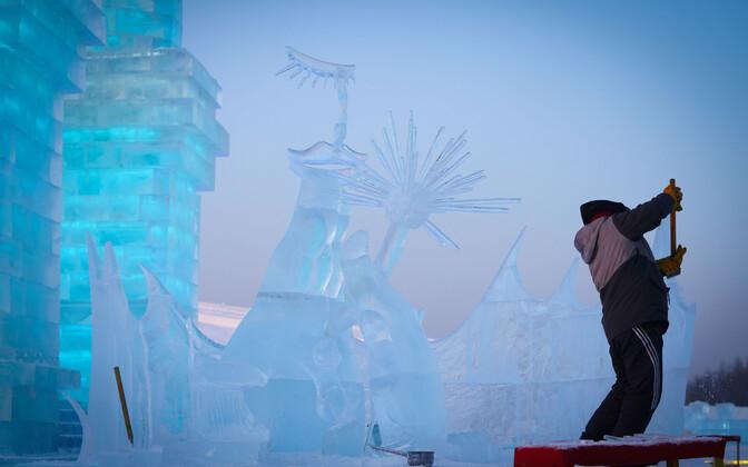Harbini jäälinn Hiinas