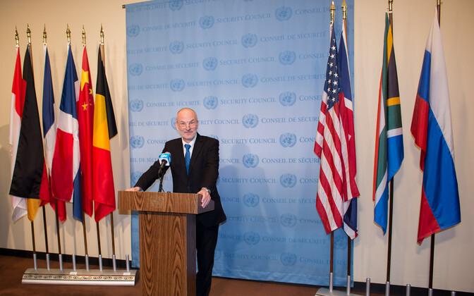 Eesti lipp heisati ÜRO Julgeolekunõukogus koos teiste uute valitud liikmetega.
