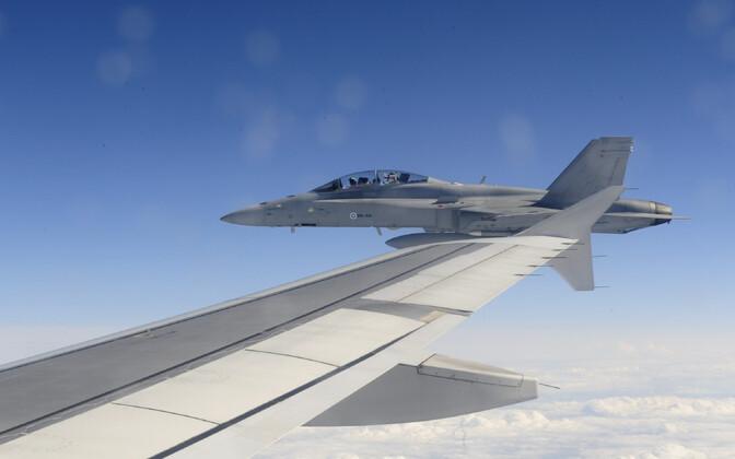 Soome õhuväe praegune hävituslennuk F/A-18 Hornet.