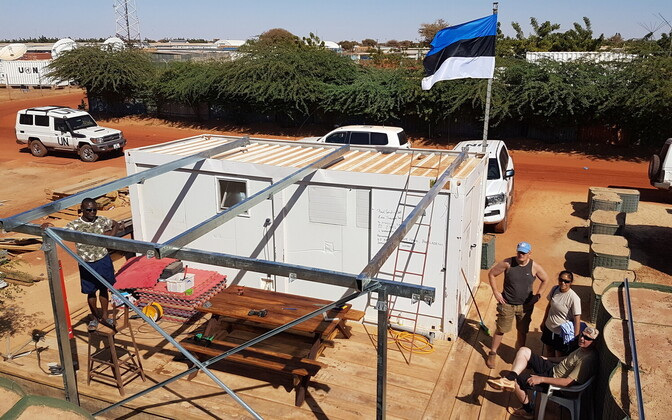 Estonian sauna at the UN's Timbuktu base in Mali.