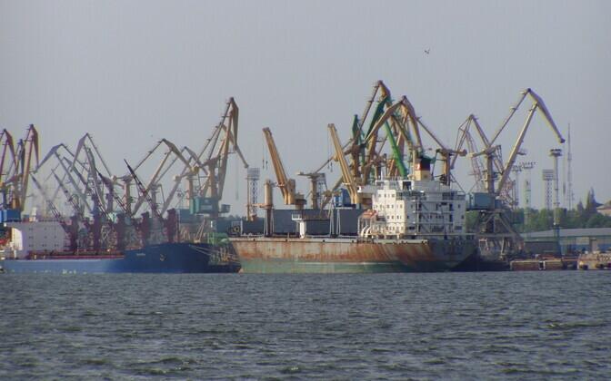 Порт Клайпеды.