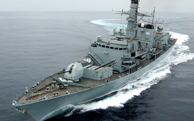 Briti fregatt HMS Montrose.