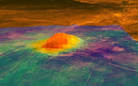 Astronoomidel õnnestus pildistada ühe aktiivseks peetava vulkaani,  Idunn Monsi tippu.