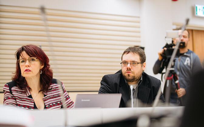 Muusik Raivo Rätte ehk Kõmmari tapmises süüdistatav Karel Šmutov kohtu ees