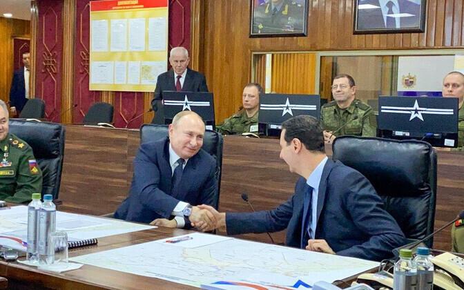 Владимир Путин и Башар Асад.