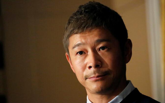 Jaapani miljardär Yusaku Maezawa.