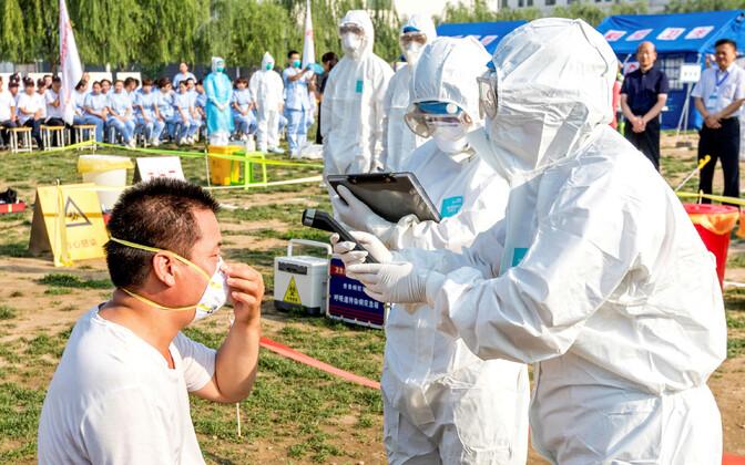 Viirusetõrje õppused Hiinas.