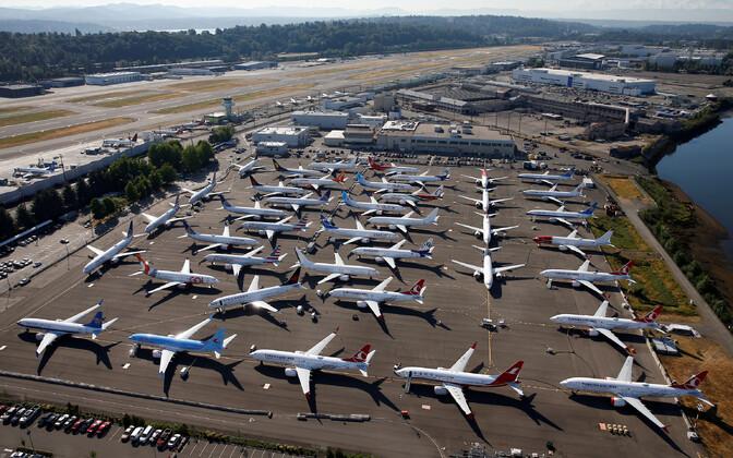 Lennukid Boeing 737 MAX Seattle'is Boeing Fieldil.