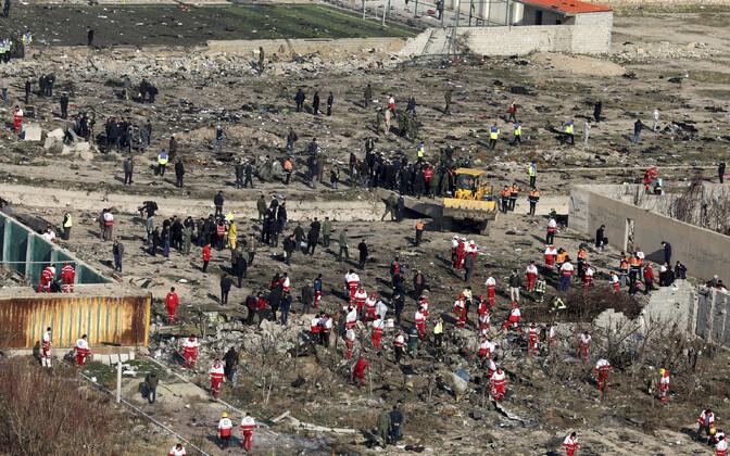 PS752 katastroofi sündmuskoht Iraanis.