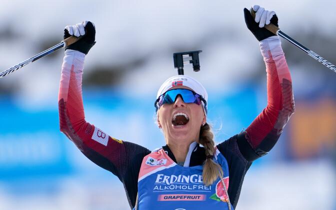 Тириль Экхофф принесла победу сборной Норвегии.