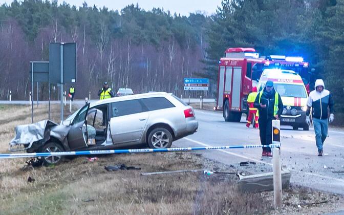 Scene of the deadly crash in Saaremaa. January 11, 2020.