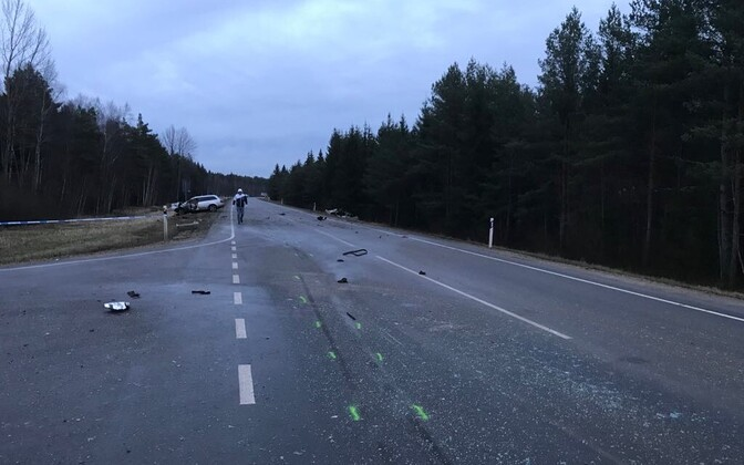 Aftermath of January's fatal road death on Saaremaa.