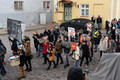 Protesters held a march against fur farms in Tallinn.