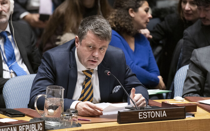 Minister of Foreign Affairs Urmas Reinsalu (Isamaa) at the UN Security Council in New York. January 9, 2020.