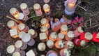 Candles and children's toys brought to the crash site in Saaremaa. January 12, 2020.