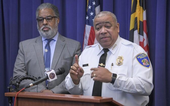 Baltimore'i linna õigusteenistuse juht Andre Davis ja politseiülem Michael Harrison.