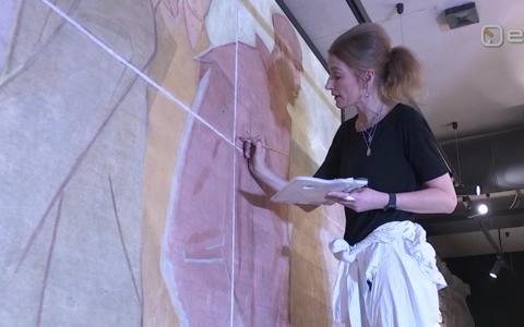 Osa Dolores Hoffmanni seinapannoost jõuab Tammsaare pargi uude paviljoni