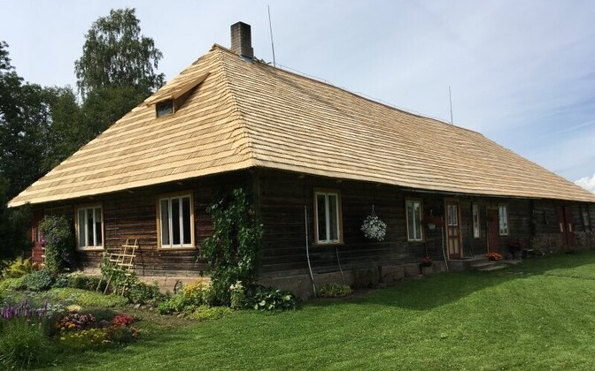 Kajaku Farm in Viljandi County, whose new wood shingle roof was paid for in part by support in 2019.