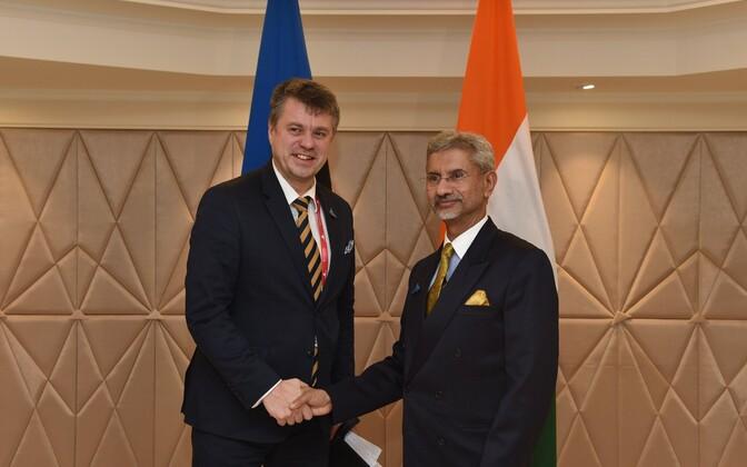 Foreign ministers Urmas Reinsal and Subrahmanyam Jaishankar.