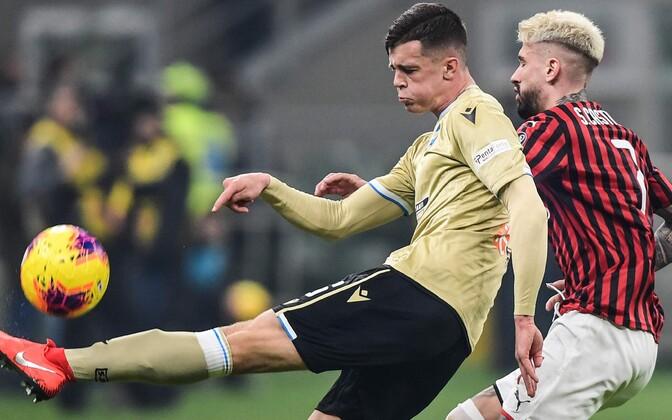 Georgi Tunjov mängus AC Milani vastu