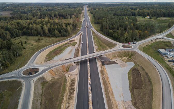 Строительство участка Козе-Арду на шоссе Таллинн-Тарту.
