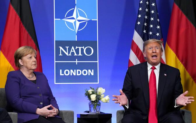 Donald Trum ja Angela Merkel.