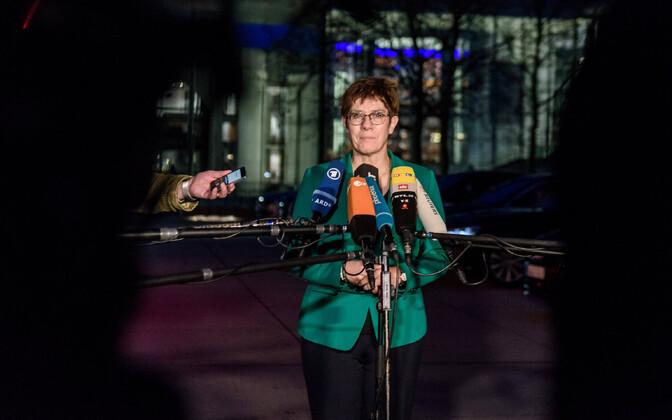 Saksamaa kaitseminister Annegret Kramp-Karrenbauer.
