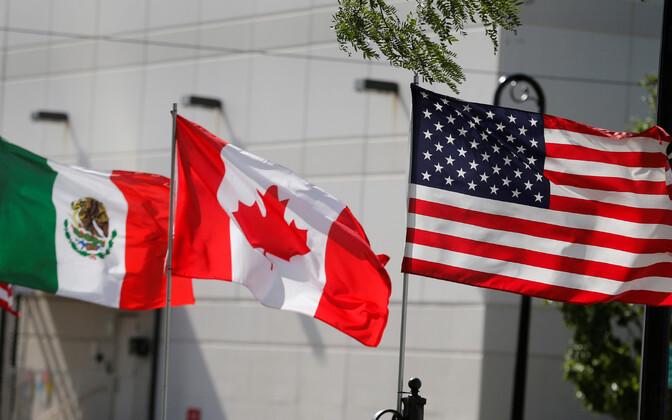 Mehhiko, Kanada, USA lipp.