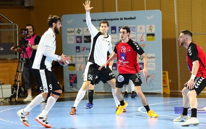 Mait Patrail (palliga) juhtis Eesti mängu nii täpsete söötude kui vajalike väravatega.
