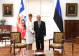 Kersti Kaljulaid meeting President Sebastian Pinera in Santiago, Chile.