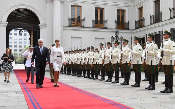 President Kersti Kaljulaid visiidil Tšiilis.
