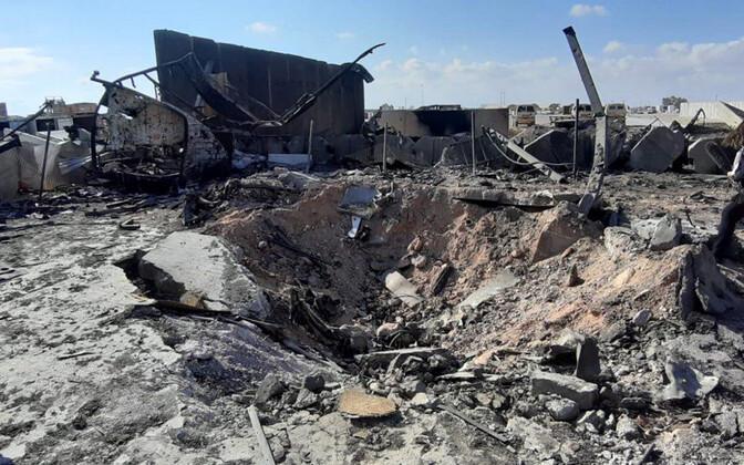 Iraani rünnakus tabamuse saanud USA Ain al-Assadi sõjaväebaas Anbari provintsis Iraagis.