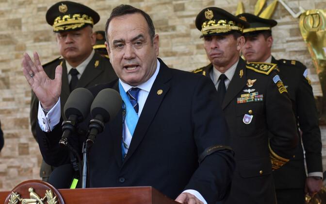 Guatemala uus president Alejandro Giammattei.