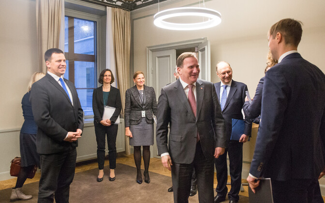 Jüri Ratas in Stockholm, meeting Swedish Prime Minister Stefan Löfven and representatives of the country's banking sector.