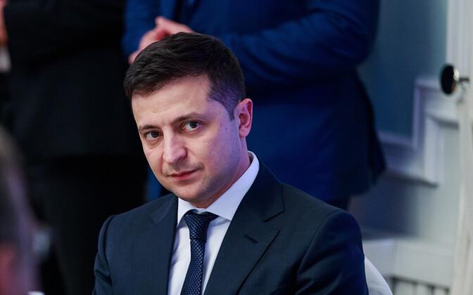 Президент Украины Владимир Зеленский во время визтита в Эстонию.
